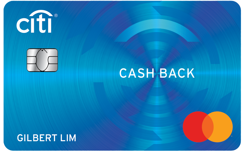 Best Cashback credit card Singapore - Citi Cash Back Card